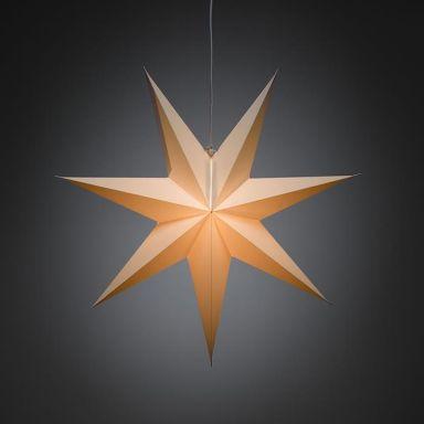 Konstsmide 2917-200 Julstjärna papper, vit, 60 cm