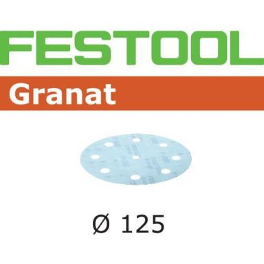 Festool STF GR Slippapper 125mm, 8-hålat, 50-pack