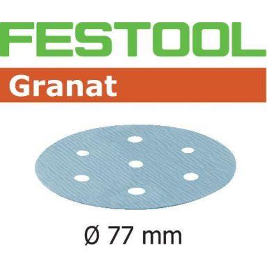 Festool STF GR Slippapper 77mm, 6-hålat, 50-pack