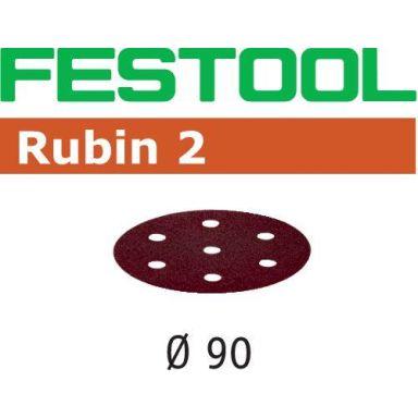 Festool STF RU2 Slippapper 90mm, 6-hålat, 50-pack