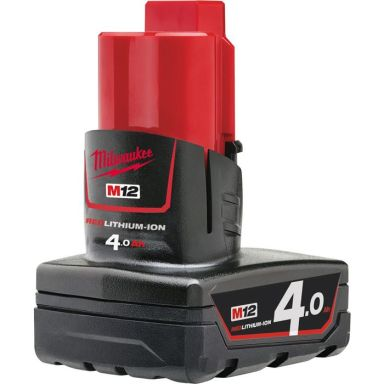 Milwaukee M12 B4 12V Li-Ion batteri 4,0Ah