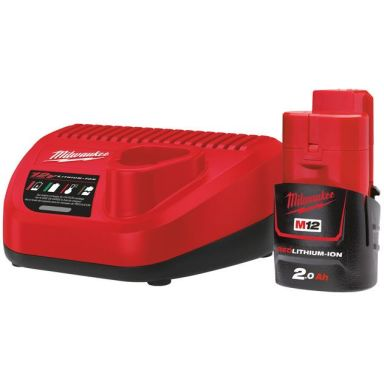 Milwaukee M12 NRG-201 Laddpaket