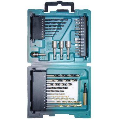 Makita D-36980 Bor- og bitssett 34 deler