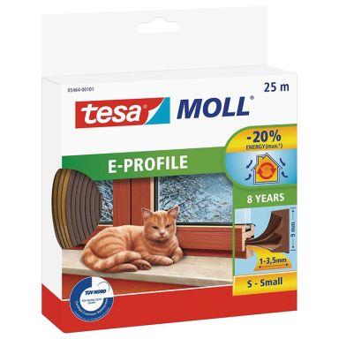 Tesa E-list 05464-00101-00 Tetningstape EPDM, 25 m, 9 mm x 4 mm