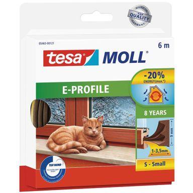 Tesa E-list 05463-00121-00 Tetningstape EPDM, 6 m, 9 mm x 4 mm