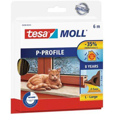 Tesa P-list 05390-00101-00 Tetningstape EPDM, 6 m, 9 mm x 5.5 mm