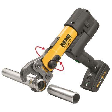 REMS Akku-Press 22 V ACC Pressmaskin med plåtlåda, 2,5 Ah batteri och laddare