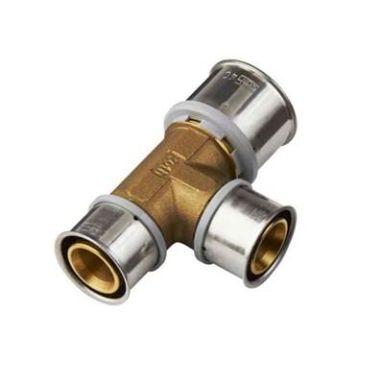 Roth PressCheck 1877119 T-koppling avz.härdig mässing, reducerad