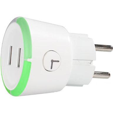 CAPiDi TIUSBTI USB-laddare vit, med timer