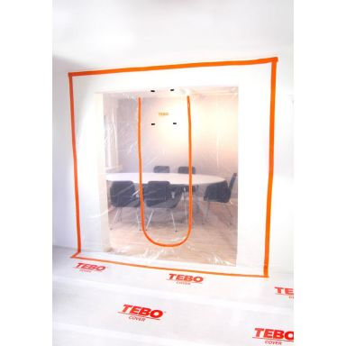TEBO Cover 869632 Blixtlåsdörr XL, U-form