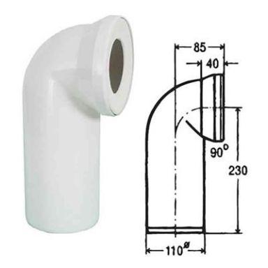 IDO 7788607 Avloppsstos 110 mm, 90°