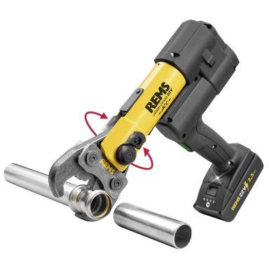 REMS Akku-Press 22 V ACC Pressmaskin med L-BOXX, 2,5 Ah batteri och laddare