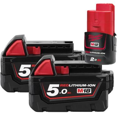 Milwaukee M18 B5 18V Li-Ion batteri 2-pack