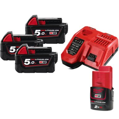 Milwaukee M18 NRG-503 Laddpaket