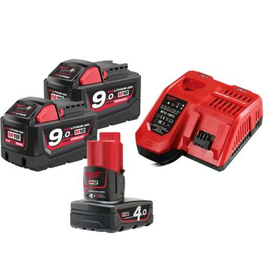 Milwaukee M18 NRG-902 Laddpaket