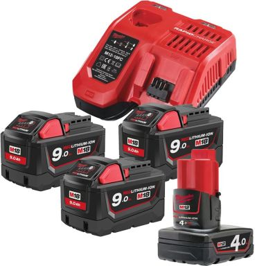 Milwaukee M18 NRG-903 Laddpaket