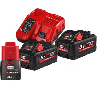 Milwaukee M18 HNRG-552 Laddpaket