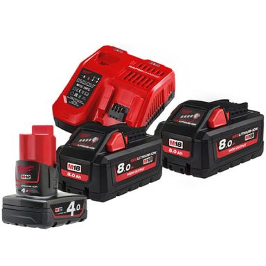 Milwaukee M18 HNRG-802 Laddpaket
