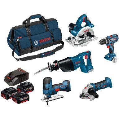 Bosch 0615990K6N Verktygspaket med väska, 4,0Ah batterier och laddare