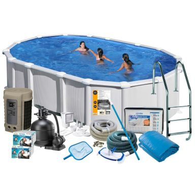 Swim & Fun 2744 Poolpaket 7,3 x 3,75 x 1,32 m, 28 217L