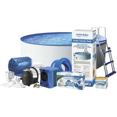 Swim & Fun Kreta Poolpaket Ø4,6 x 0,9 m, 13 500L
