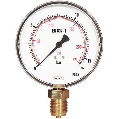 REMS 115045 Manometer fingraderad skala, 16 bar