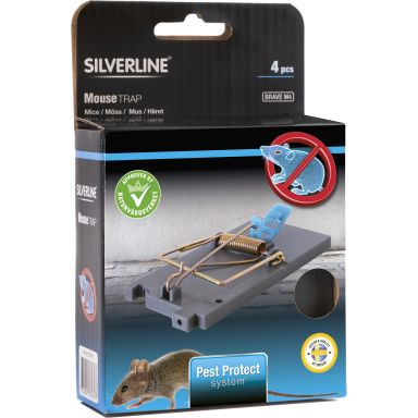 Silverline Brave Musfälla 4-pack