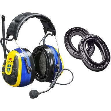 3M Peltor WS Alert XPI Sverigekåpan Hörselskydd med Bluetooth och mobilapplikation, hjässbygel