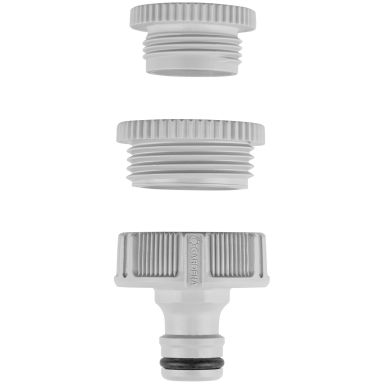 "Gardena 18204-24 Krankobling 1"", med adapter for 3/4"" og 1/2"""
