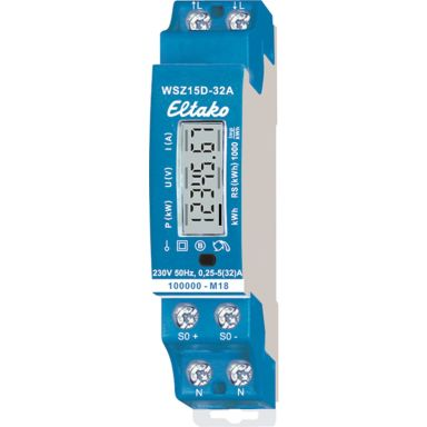Eltako WSZ15D-32A Energimåler 1-faset, 32 A, eko, 40-57,5 Hz, IP50