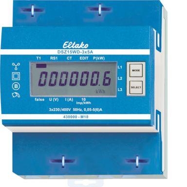 Eltako DSZ15WD Energimåler 3-fas, 5 A, mid, 40-57,5 Hz, IP50
