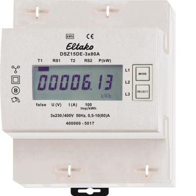 Eltako DSZ15DE Energimåler 3-fas, 80 A, 40-57,5 Hz, IP50