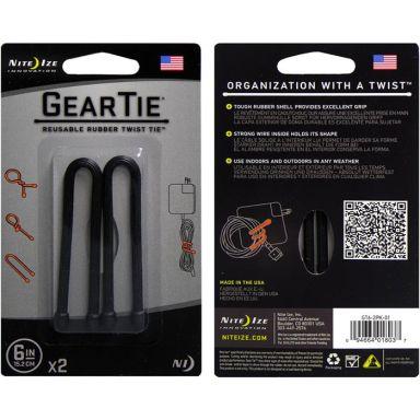 Nite Ize Gear Tie 6 Vaier 2-pakning