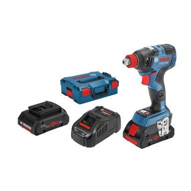 Bosch GDX 18V-200 C Mutterdragare med L-BOXX, batterier och laddare