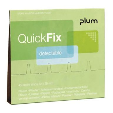 Plum QuickFix Detectable Long Plaster refill, 30 stk