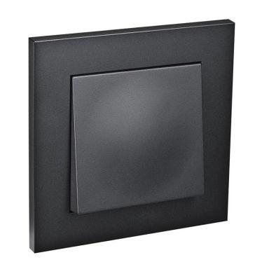 Elko Plus Strömbrytare infälld, 1-pol/trapp, svart