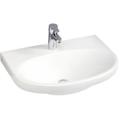 Gustavsberg Nautic 5556 Tvättställ utan bräddavlopp, för bult/konsolmontage