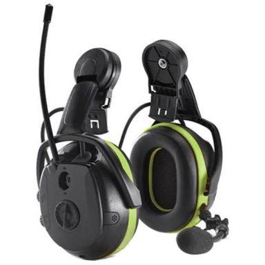 Hellberg Synergy Multipoint Hörselskydd Bluetooth, med hjälmfäste
