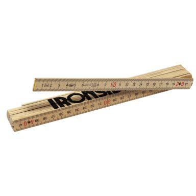 Ironside 150061 Måttstock 2 m, trä