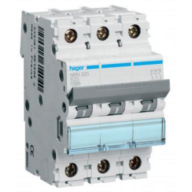 Hager NCN316 Dvärgbrytare 3-polig, 10kA, C-karakteristik