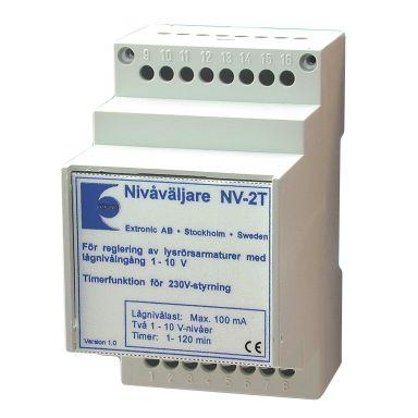 Extronic NV-2T Nivåvelger 1-10V, med relé/timer