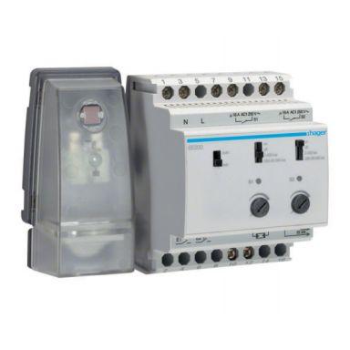 Hager EE201 Ljusrelä 2-20000 lx, 230V, IP20