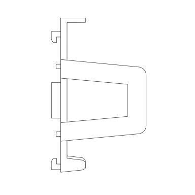 Scan Products 12437 Monteringsfäste för DIN-skena