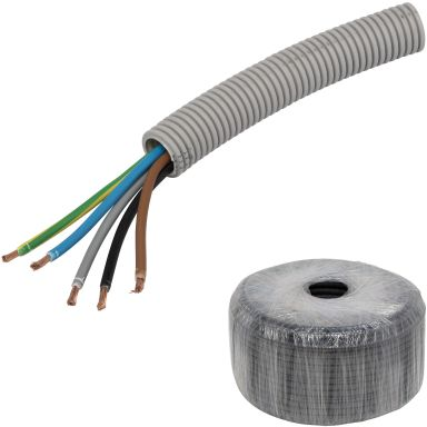 Pipelife RQ PowerFlex Kabel fördragen, 25 mm x 50 m, 5G6 mm²