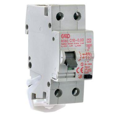 Garo RCBO GS B10A 2P Personskyddsautomat 2-polig, B-karakteristik