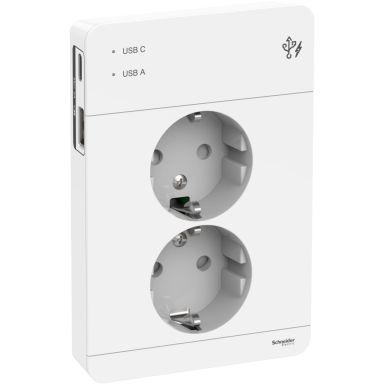 Schneider Electric Exxact Vägguttag med USB