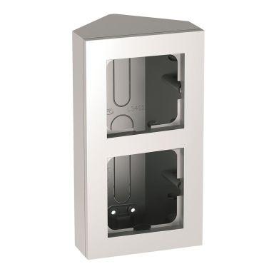Elko EKO04614 Hjørneboks 2-roms, aluminium, for Plus