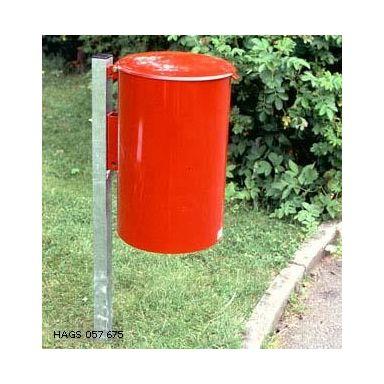 Hags Poppel Hundlatrin med sidostolpe, röd