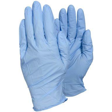 Tegera 84501 Engangshanske Blå nitril, Pudderfri