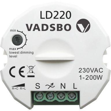 Vadsbo V4022020IB Trykknappdimmer 240 V, IP20